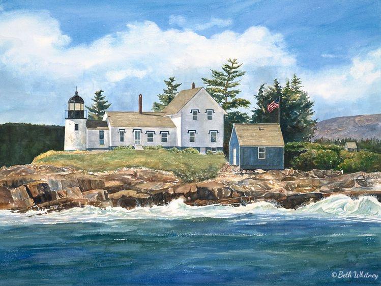 La luce del Maine nei dipinti di Beth Whitney